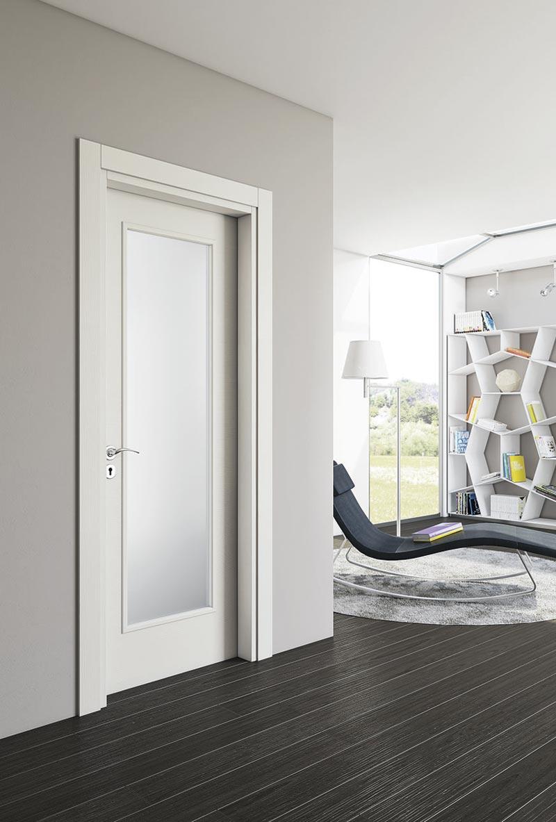 Porta in legno e vetro modello Tallia – Bertone Contract Srls