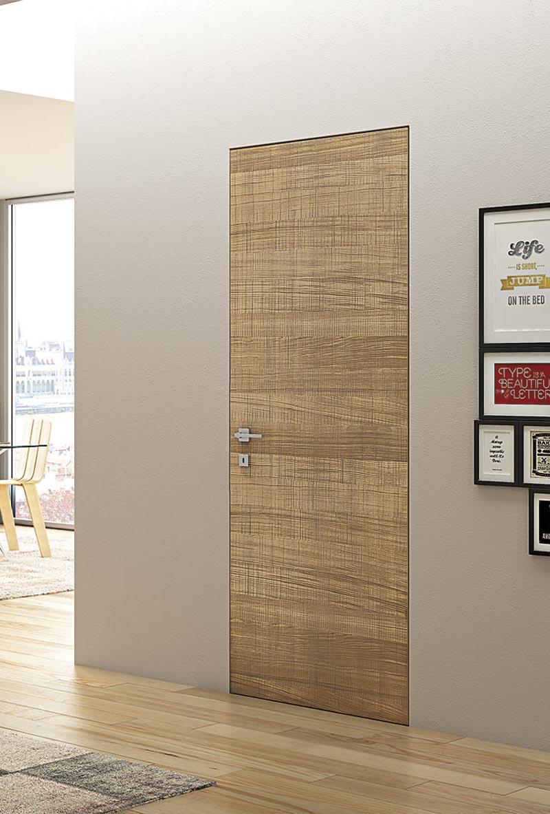 Porte Filo Muro Specchio porta in legno filomuro taglio sega modello specchio